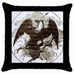 Coat Of Arms Of Iowa, 1861 1865 Throw Pillow Case (black)