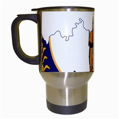 Flag Map Of Kentucky Travel Mugs (white) by abbeyz71