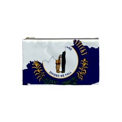 Flag Map Of Kentucky Cosmetic Bag (small) by abbeyz71