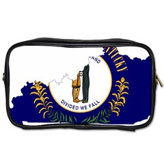 Flag Map Of Kentucky Toiletries Bag (two Sides) by abbeyz71