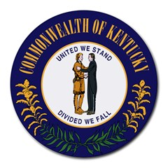 Great Seal Of Kentucky Round Mousepads by abbeyz71
