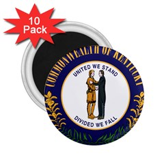 Great Seal Of Kentucky 2 25  Magnets (10 Pack)