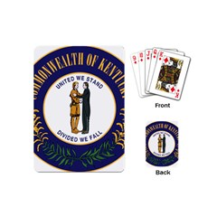 Great Seal Of Kentucky Playing Cards (mini)