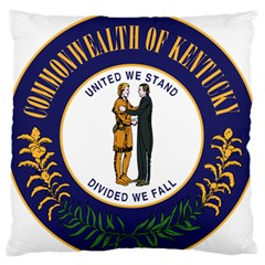 Great Seal Of Kentucky Large Flano Cushion Case (one Side)