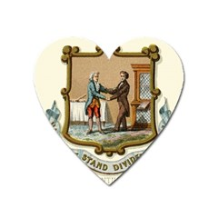 Historical Coat Of Arms Of Kentucky Heart Magnet by abbeyz71