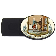 Historical Coat Of Arms Of Kentucky Usb Flash Drive Oval (2 Gb)