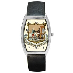 Historical Coat Of Arms Of Kentucky Barrel Style Metal Watch by abbeyz71