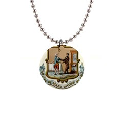 Historical Coat Of Arms Of Kentucky 1  Button Necklace by abbeyz71