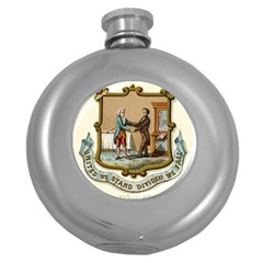 Historical Coat Of Arms Of Kentucky Round Hip Flask (5 Oz) by abbeyz71