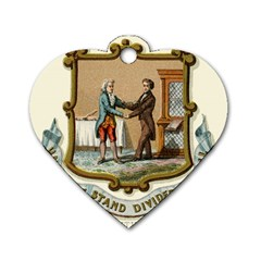 Historical Coat Of Arms Of Kentucky Dog Tag Heart (two Sides) by abbeyz71