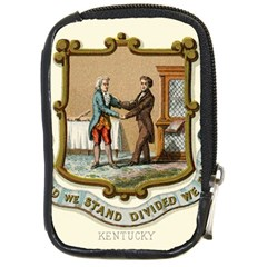 Historical Coat Of Arms Of Kentucky Compact Camera Leather Case