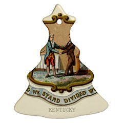 Historical Coat Of Arms Of Kentucky Christmas Tree Ornament (two Sides)