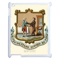 Historical Coat Of Arms Of Kentucky Apple Ipad 2 Case (white) by abbeyz71