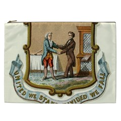 Historical Coat Of Arms Of Kentucky Cosmetic Bag (xxl) by abbeyz71