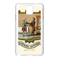 Historical Coat Of Arms Of Kentucky Samsung Galaxy Note 3 N9005 Case (white) by abbeyz71