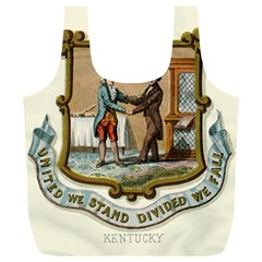 Historical Coat Of Arms Of Kentucky Full Print Recycle Bag (xl) by abbeyz71