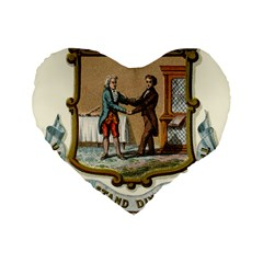 Historical Coat Of Arms Of Kentucky Standard 16  Premium Flano Heart Shape Cushions by abbeyz71