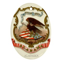 Historical Coat Of Arms Of Alabama Ornament (oval)