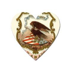 Historical Coat Of Arms Of Alabama Heart Magnet by abbeyz71
