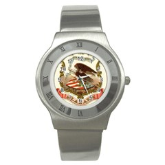 Historical Coat Of Arms Of Alabama Stainless Steel Watch by abbeyz71