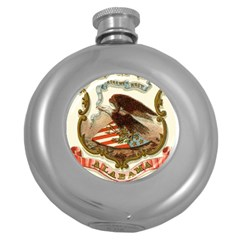 Historical Coat Of Arms Of Alabama Round Hip Flask (5 Oz) by abbeyz71