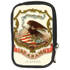 Historical Coat Of Arms Of Alabama Compact Camera Leather Case