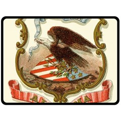 Historical Coat Of Arms Of Alabama Fleece Blanket (large)