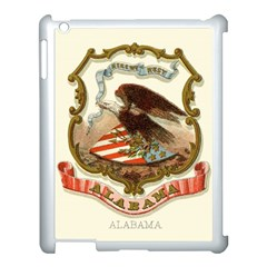 Historical Coat Of Arms Of Alabama Apple Ipad 3/4 Case (white) by abbeyz71
