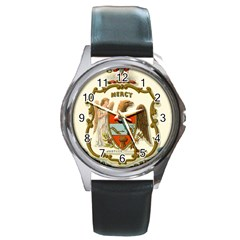 Historical Coat Of Arms Of Arkansas Round Metal Watch