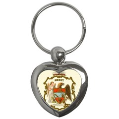 Historical Coat Of Arms Of Arkansas Key Chains (heart)