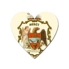 Historical Coat Of Arms Of Arkansas Heart Magnet by abbeyz71