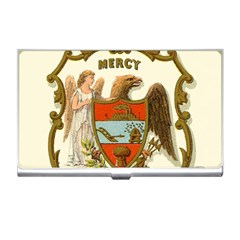 Historical Coat Of Arms Of Arkansas Business Card Holder by abbeyz71