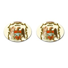 Historical Coat Of Arms Of Arkansas Cufflinks (oval) by abbeyz71