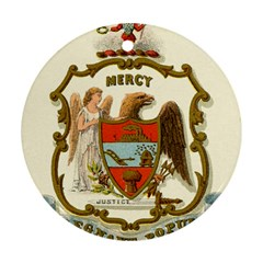 Historical Coat Of Arms Of Arkansas Round Ornament (two Sides) by abbeyz71