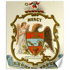 Historical Coat Of Arms Of Arkansas Canvas 20  X 24