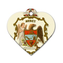Historical Coat Of Arms Of Arkansas Dog Tag Heart (one Side) by abbeyz71