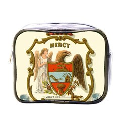 Historical Coat Of Arms Of Arkansas Mini Toiletries Bag (one Side) by abbeyz71