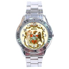 Historical Coat Of Arms Of Arkansas Stainless Steel Analogue Watch by abbeyz71