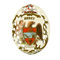 Historical Coat Of Arms Of Arkansas Ornament (oval Filigree) by abbeyz71