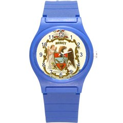Historical Coat Of Arms Of Arkansas Round Plastic Sport Watch (s) by abbeyz71
