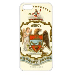 Historical Coat Of Arms Of Arkansas Apple Iphone 5 Seamless Case (white) by abbeyz71
