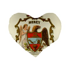 Historical Coat Of Arms Of Arkansas Standard 16  Premium Heart Shape Cushions by abbeyz71