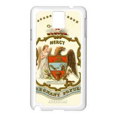 Historical Coat Of Arms Of Arkansas Samsung Galaxy Note 3 N9005 Case (white) by abbeyz71