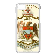 Historical Coat Of Arms Of Arkansas Apple Iphone 8 Seamless Case (white)