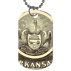 State Seal Of Arkansas, 1853 Dog Tag (one Side) by abbeyz71
