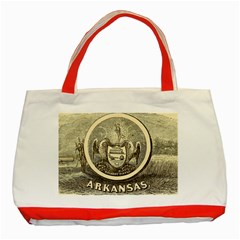 State Seal Of Arkansas, 1853 Classic Tote Bag (red)