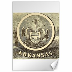 State Seal Of Arkansas, 1853 Canvas 24  X 36