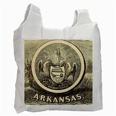 State Seal Of Arkansas, 1853 Recycle Bag (one Side) by abbeyz71