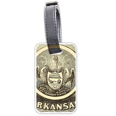 State Seal Of Arkansas, 1853 Luggage Tags (one Side)  by abbeyz71