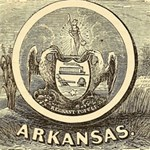 State Seal of Arkansas, 1853 Storage Stool 12   Front